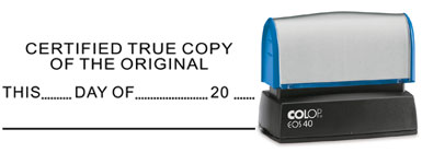 Certified True Copy Stamp From BCstamp Find All Your Legal