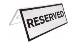 "SIGN-RES - Folding ""Reserved"" Signs (Package 5)"